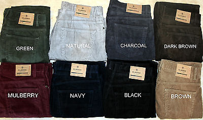 Ex M&S Men Regular Fit Straight Leg Casual Formal Corduroy Cord Trousers Pants • 14.99£