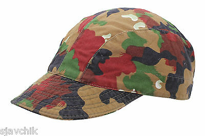£6.50 • Buy Genuine Swiss Army Issued Alpenflage Camo M83 Field Cap With Elasticated Panel