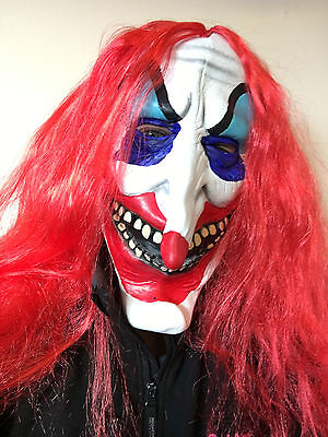£8.97 • Buy Scary Clown Latex Mask Adult Evil IT Halloween Fancy Dress Red Hair New