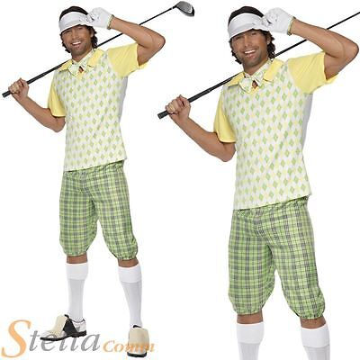 Mens Gone Golfing Golfer Pub Golf Stag Night Fancy Dress Costume Adult Outfit • 27.99£
