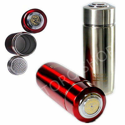 Healthy Life Energy Filter Quantum Flask Alkaline Water Ionizer Bottle RED • 15.50£