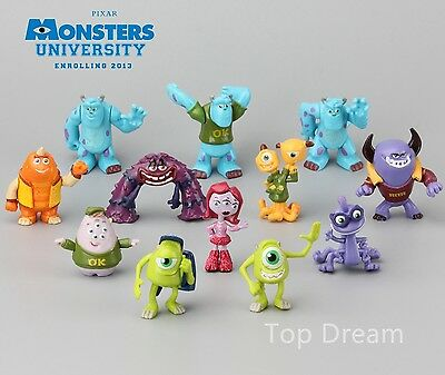 12pcs Monsters Inc. Monsters University Mike Sully PVC Figure Toys Cake Topper • 12.98£