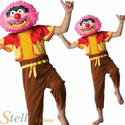£14.98 • Buy Boy's Deluxe Animal The Muppets Fancy Dress Costume & Mask Ages 5 6 7 8