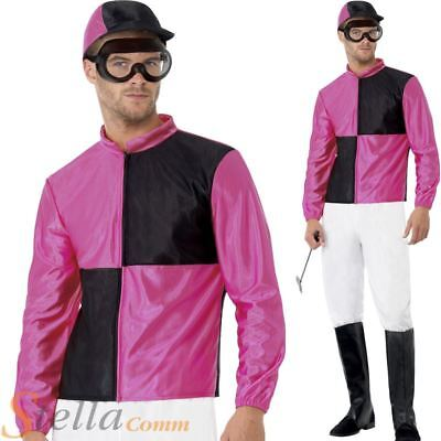 Mens Jockey Costume Grand National Stag Do Adult Fancy Dress Outfit • 24.98£