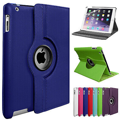 £4.95 • Buy Leather 360 Rotating Smart Case Cover Apple IPad Air 2 Pro Air 10.5 12.9 Mini 5