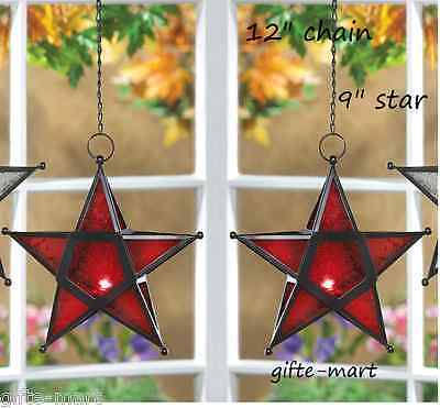 $32.56 • Buy 2 Country Barn Star Moroccan Hanging Candle Holder Lantern Light Outdoor Terrace