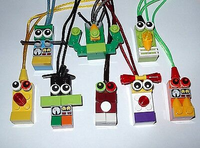 $18.99 • Buy 8 Great Party Favors Lego Brick Block Necklaces Birthday Grab Bags Gifts