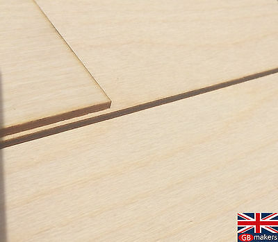 £2.03 • Buy A4 Birch Plywood Sheets - Laser Safe - For Crafts, Models & Pyrography 4mm 6mm