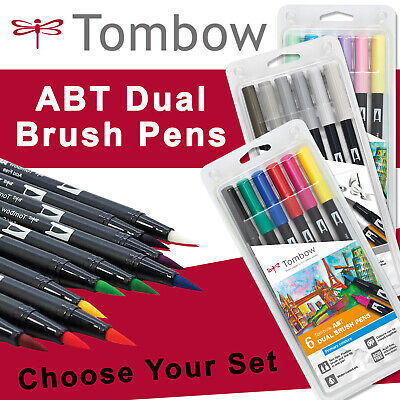 Tombow ABT Brush Dual Art Pens - PRIMARY/ SECONDARY / GREY/ EARTH/ Pastel SETS • 27.49£