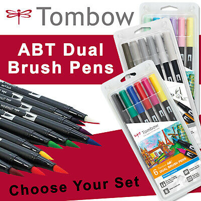 Tombow ABT Dual Brush Pen Packs! - Primary, Secondary, Earth, Sunset, Ocean SETS • 17.95£