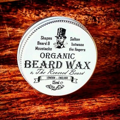 15ml Organic Moustache Wax By Revered Beard. Premium Quality Beard Styling Wax • 3.99£