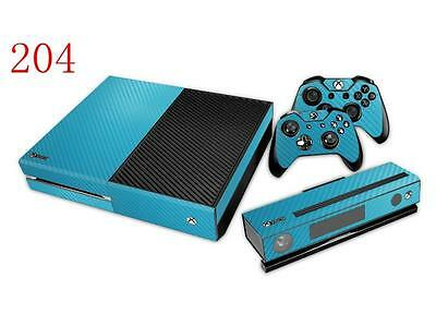 $9.69 • Buy XBox One Console And Controller Skins -- Blue Carbon Fiber Design (#204)