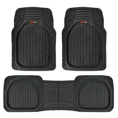 $34.90 • Buy Motor Trend FlexTough 3pc Rubber Car Floor Mats - Thick Heavy Duty All Weather