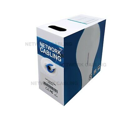 AU34.85 • Buy Cat 5e 100m UTP RJ45 Ethernet Solid Cable Roll  Networking Lan Data Core