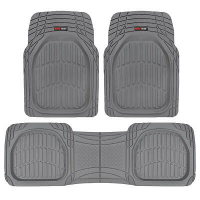 AU51.90 • Buy Motor Trend FlexTough 3pc Rubber Floor Mats - Thick Heavy Duty All Weather Gray