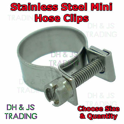 Stainless Steel Mini Hose Clips Jubilee Clip Clips Pipe Clamps Diesel Petrol • 5.95£