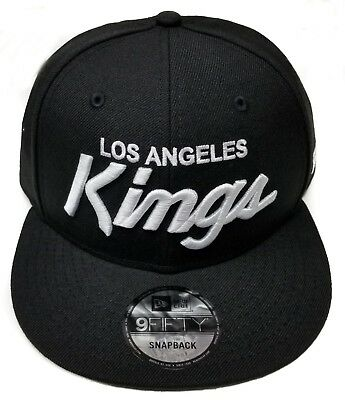 buy online f29a5 78721 Los Angeles Kings New Era 9Fifty Basic Vintage Script Eazy-E NWA Snapback  NHL •