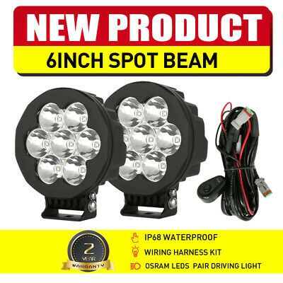AU89.88 • Buy Pair 6inch OSRAM LED Driving Lights Spot Beam Black Offroad Truck 4x4 ATV Work