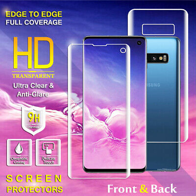 AU4.99 • Buy Front Back Full Cover Screen Protector For Samsung Galaxy S7 Edge S8 S9 S10 Plus
