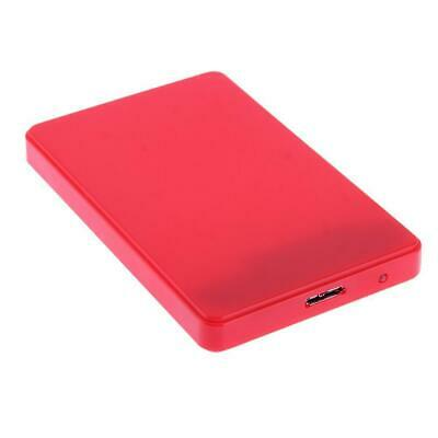 Usb 3.0 2.5  Sata Hdd Hard Drive Enclosure Caddy Case Cable Red • 4.95£