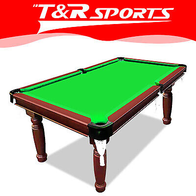 AU682.99 • Buy 15%OFF SMART 8FT MDF Green Pool Table Snooker Billiards Round Leg Accessory Kit