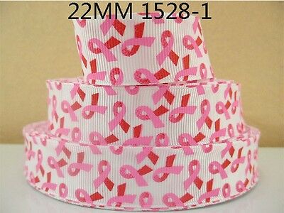 £1.49 • Buy Cancer Awareness Ribbon 7/8  (22mm) Wide 1m Is Only £1.49 NEW UK SELLER FREE P&P