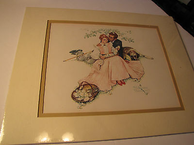 $ CDN43.77 • Buy Norman Rockwell Watercolor Print, Signed, Matt, Ready To Frame