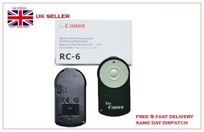RC-6 IR Remote For Canon 5D Mark 2 3 EOS 650D 400D 300D 350D Rebel T3i 6D 7D 60D • 3.99£