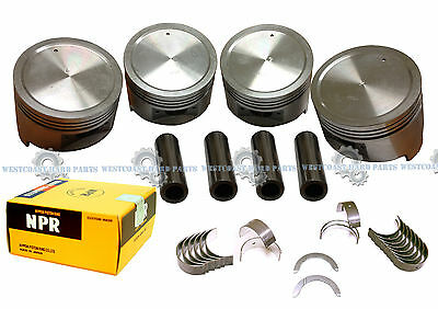 AU193.02 • Buy 88-92 Isuzu Pickup Rodeo 2.6 4ZE1 SOHC Pistons Rings & Main Rod Engine Bearings