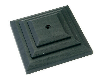 """£13.50 • Buy Linic 15 X Black 3"""" Or 75mm Plastic Fence Post Cap Top Finial UK Made GT0045"""