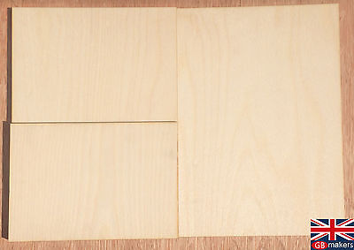 Birch Plywood Ply Premium Sheet A5 A4 A3 4mm 6mm Wooden Wood Board  Sheets • 13.75£