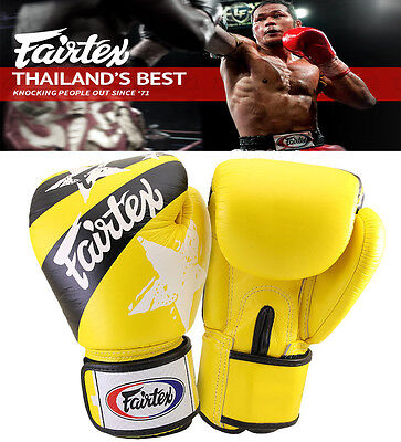 $109.98 • Buy Authentic Fairtex Nations Print Muay Thai Sparring Gloves YELLOW, MMA , Boxing