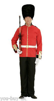 Mens Royal Guard Costume + Hat London Guard British Palace Soldier Fancy Dress • 34.50£