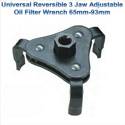 AU28.93 • Buy 3 Jaw Reversible Oil Filter Spanner Puller Remover Removal Wrench Tool 65-93mm
