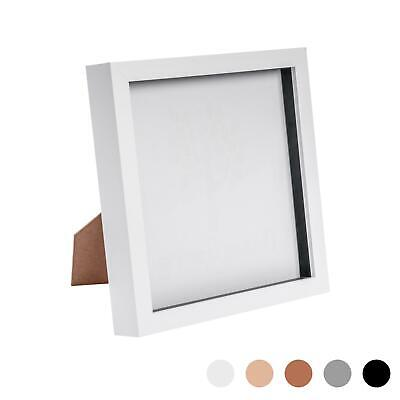 Box Picture Frame Deep 3D Photo Display 8x8 Inch Square Standing Hanging White • 9.99£
