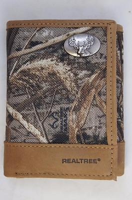 $44 • Buy ZEP-PRO BUCK DEER REALTREE MAX-5 Camo Trifold  WALLET ONLY NO BOX