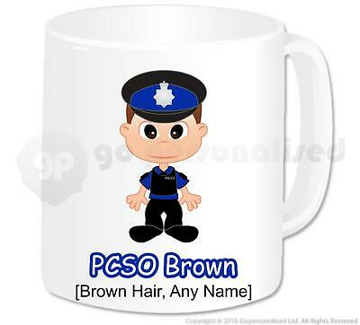 Personalised Gift - Male Police Community Support Officer PCSO Mug Present #3 • 10.29£