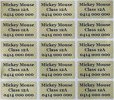 AU5.99 • Buy 120 Gold Customise Personalised Name Stickers Vinyl Tag / Label, 3.0 X 1.5 CM
