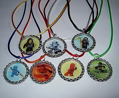 $14.99 • Buy 14 Lego Ninjago Necklace With Matching Color Cords Birthday Party Favors