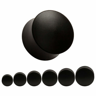 AU8.35 • Buy BLACK EBONY CONVEX Wooden Ear Plugs Stretchers Jewellery Saddle Timber PL90