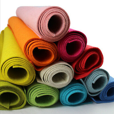 80% Wool Felt 2mm Thick Pressed Felt Per Metre 60cm Wide Melange Colours • 2.95£