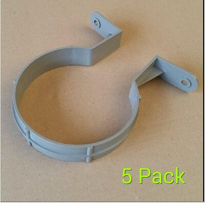110mm Pipe Clip / 4 Inch Bracket Soilpipe Soil Pipe Drainage Clips - Pack Of 5 • 6.49£