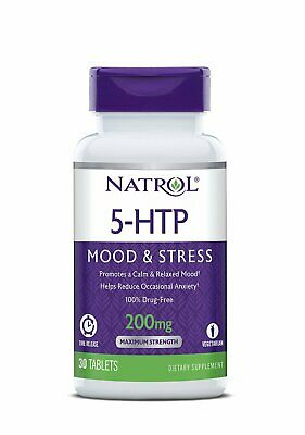 $ CDN28.31 • Buy New Natrol 5-Htp Time Release 200mg 30 Tab