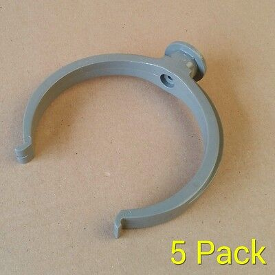 110mm Pipe Clip / Bracket / Soil Pipe Koi Pond Drainage Clips  - Pack Of 5 • 5.99£