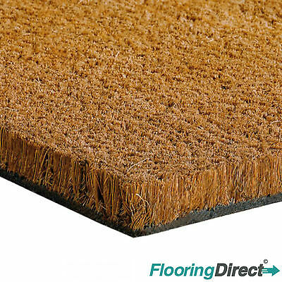 Heavy Duty Coir Matting - Coconut Door Mat 17mm 1m-2m Wide - Any Size Available. • 13.90£