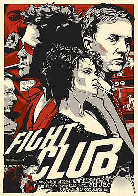 £6.99 • Buy Fight Club Poster 1 (4 Sizes A5-a4-a3-a2) + A Free Surprise A3 Poster