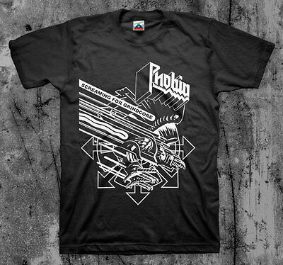 $14 • Buy PHOBIA 'Screaming For Grindcore' T Shirt (Wormrot Insect Warfare Magrudergrind)