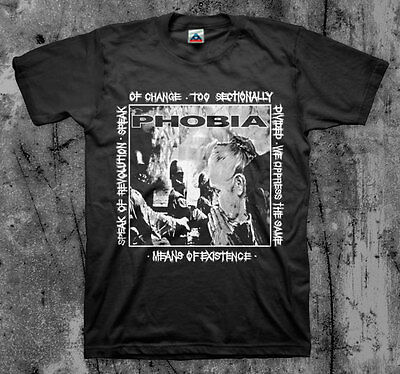 $14 • Buy PHOBIA 'Means Of Existence' T Shirt (Wormrot Napalm InsectWarfare Magrudergrind)