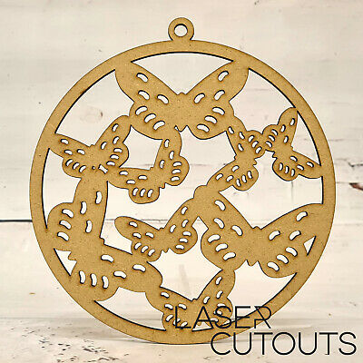 150mm Wooden MDF Butterfly Window Hanging Shape, Dreamcatcher, Decorating, Craft • 2.49£