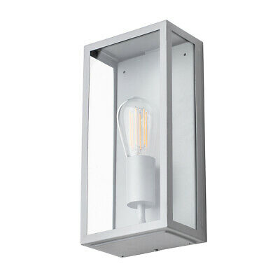 Modern Garden Outdoor IP44 Rated Wall Lantern Light Stainless Steel Litecraft • 28£